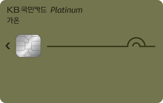 KB국민카드 가온플래티늄카드